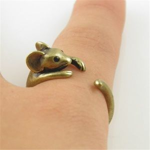 Jewelry - Cute Mouse Ring- Gold